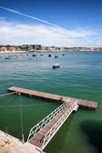 Pier on the Atlantic Ocean Bay in Cascais — Stock Photo