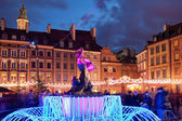 Warsaw Old Town at Christmas in Poland — Stock Photo