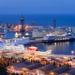 Cruise Port Terminal in Barcelona at Night — Stock Photo #57638759