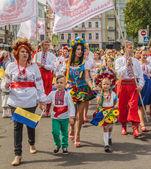 Ulusal kostüm cherkasy bölge temsilcisi — Stok fotoğraf