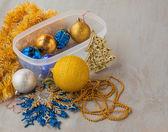 Decorações e enfeites de natal — Fotografia Stock