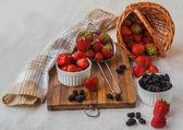 Dessert of strawberries — Stock Photo