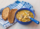 Mushroom soup with vegetables — Stock Photo