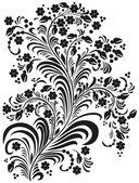 Decorative flowers in folk style — Stock Photo