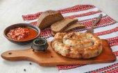 Ring homemade sausage — Stock Photo