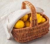 Basket with lemons — Stock Photo