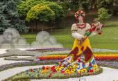 Flower Show Landscape Park in Kiev — Stock Photo