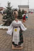 Scarecrow Shrovetide in Kiev in 2015 — Stock Photo