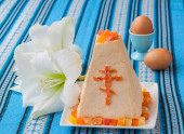 Traditional curd Easter cake — Stock Photo