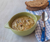 Vegan lenten mushroom soup — Stock Photo