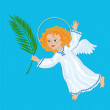 Angel with a palm branch — Stock Vector #67619029