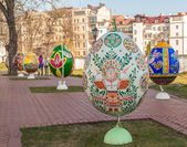 Easter eggs at Ukrainian festival — Stock Photo