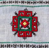 A fragment of Ukrainian embroidery — Stockfoto