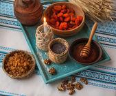 Ingredients for kutia. Christmas Eve — Stock Photo