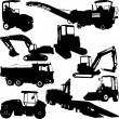 Construction machines collection — Stock Vector #60459831