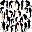 Photographers big silhouettes collection — Stock Vector #62037085