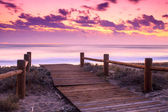 Sunset beach in Gabo de Gata — Stock Photo