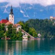 Bled with lake — Stok fotoğraf #63105309