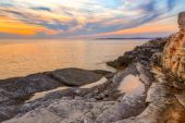 Sunrise over the sea near Rt Kamenjak — Stock Photo