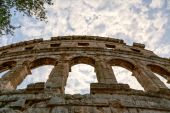 известный амфитеатр в пуле, хорватия — Стоковое фото