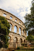 Famous amphitheater in Pula, Croatia — Stock Photo