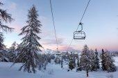Vogel ski center in mountains Julian Alps — Stock Photo