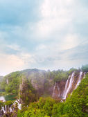 Waterfalls in Plitvice National Park — Stockfoto