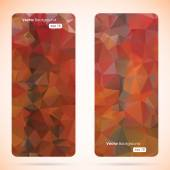 Abstract geometric triangular banners set — Stock Vector