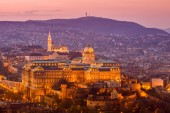 Budapest castle — Stock Photo