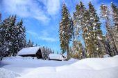 Maison de vacances d'hiver en Slovénie Alpes — Photo