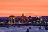 Night view of Budapest — Stock Photo