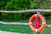 Plastic orange saving belt — Stock Photo
