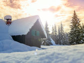 Winter vakantiehuis in Slovenië Alpen — Stockfoto