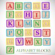 Alphabet Block Illustration — Stock Vector #58186523