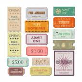 Vintage Tickets Illustration — Stock Vector