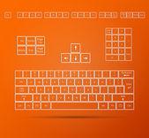 Keyboard Illustration — Stock Vector