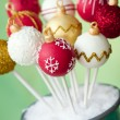 Christmas bauble cake pops — Stock Photo #56738163