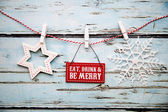 """""""Eat, drink and be merry"""" sign — Stock Photo"""