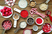 Christmas cupcake decorations  — Stock Photo