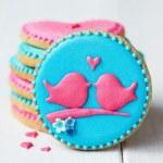 Lovebird cookies — Stock Photo #61915715