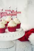 North Pole cupcakes — Stock Photo