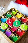 Christmas ornament cookies — Fotografia Stock