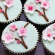 Cherry blossom cupcakes — Stock Photo #63683639