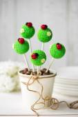 Ladybug cake pops — Stock Photo