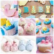 Baby shower collage — Stock Photo #79500988