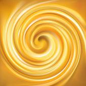 Vector swirling backdrop vivid yellow color — Stock Vector