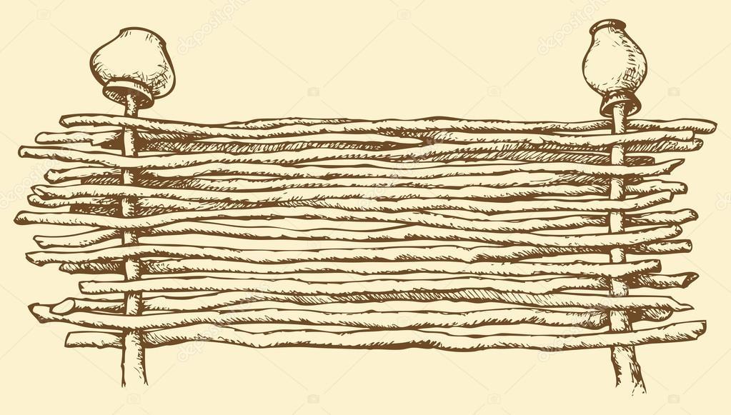 плетенка рисунок карандашом