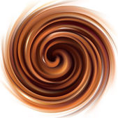 Vector background of swirling creamy chocolate texture — Stock Vector