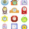Different clocks isolated on white backdrop — Stock Photo #63073505