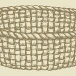 Vector picture. Empty wicker basket — Stock Vector #65034727